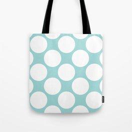 Polka Dots Blue Tote Bag