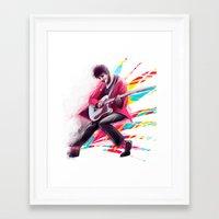darren criss Framed Art Prints featuring Listen Up Darren Criss by Ines92