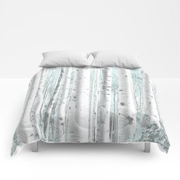 Pale Birch and Blue Comforters