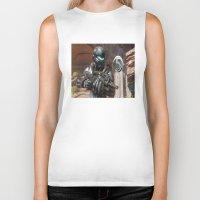 guardians Biker Tanks featuring Halo5 Guardians by ezmaya