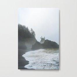 Icy Ocean Spray Metal Print