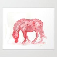 Red Pony Art Print