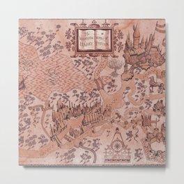wizarding world of harrypotter map Metal Print