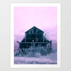 Infrared Barn Art Print