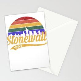 Stonewall 1969 Where Pride Began Retro 50th Anniversary Tee T-Shirt Stationery Cards