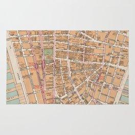 Vintage Map of Lower Manhattan (1921) Rug