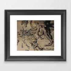 Before the War: a Map of Europe Framed Art Print