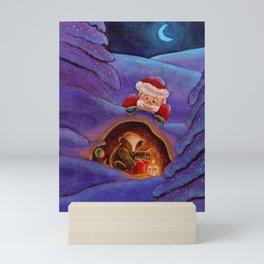 Secret Santa Mini Art Print