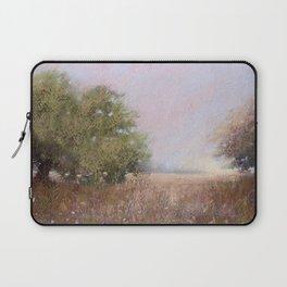 Quiet Afternoon Soft Pastel Landscape Painting Laptop Sleeve