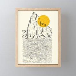 Sun Cliffs Framed Mini Art Print