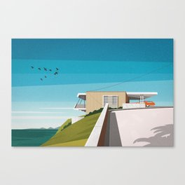 'Spencer House' (1955) Mid century house Canvas Print