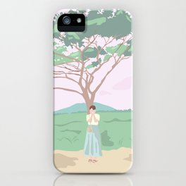 Shy Tree iPhone Case