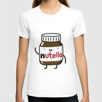 nutella T-shirts featuring HAPPY NUTELLA IS HAPPY by Agustin Flowalistik