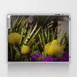 Protea pincushion flowers with vignette Laptop & iPad Skin