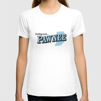 parks and recreation T-shirts featuring Parks and Recreation - Greetings from Pawnee by ernieandbert