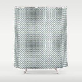 basket weave bg Shower Curtain