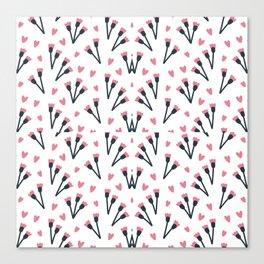 Modern Lovely Flower Pattern Art Canvas Print