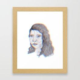 "SERIOUS - pencil illustration ""screen print"" Framed Art Print"