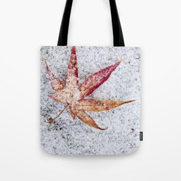leaf and snow Tote Bag