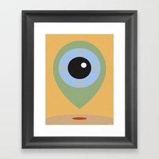 LOCATOR Framed Art Print