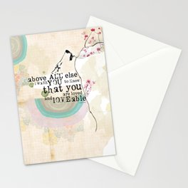 Above All You are Loved Stationery Cards