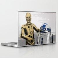 c3po Laptop & iPad Skins featuring C3PO & R2D2 by Berta Merlotte