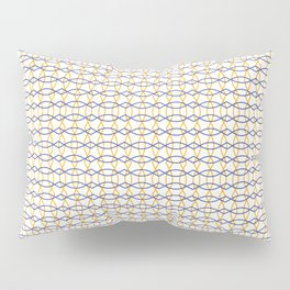 Pattern Blue and Yellow Pillow Sham