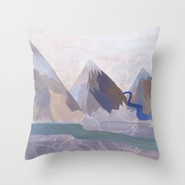 Mountains - Bethany Walrond Throw Pillow