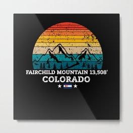 FAIRCHILD MOUNTAIN 13,508' Colorado Metal Print