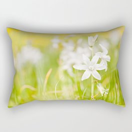 White Ornithogalum nutans pretty bloom Rectangular Pillow