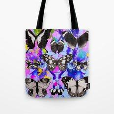 Tie Dye Butterflies Tote Bag