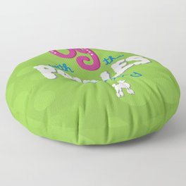 Oy with the poodles already! Floor Pillow