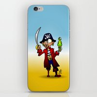 pirate iPhone & iPod Skins featuring Pirate by Cardvibes.com - Tekenaartje.nl