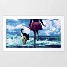 Race to the Sea Art Print