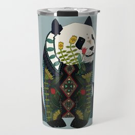panda silver Travel Mug