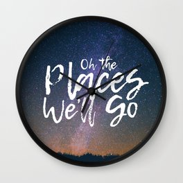 Oh the Places We'll Go Wall Clock