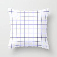 grid Throw Pillows featuring GRID by G-VNCT