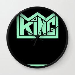 KING teal Wall Clock