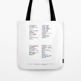Daft Punk Discography - Music in Colour Code Tote Bag