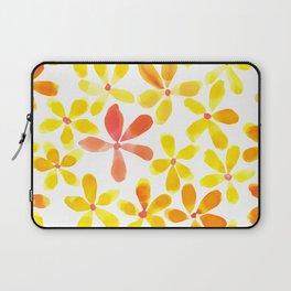 Retro Flowers - Yellow and Orange Laptop Sleeve