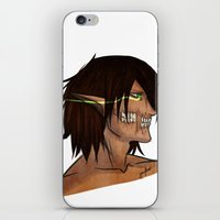 attack on titan iPhone & iPod Skins featuring Titan Form by JemyArt