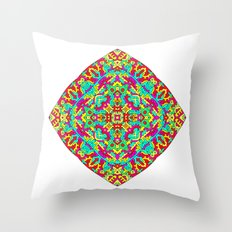 Four Owls Mandala Throw Pillow