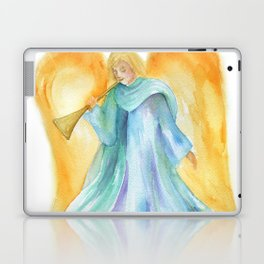 Angel with Trumpet Watercolor Laptop & iPad Skin