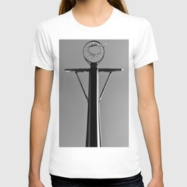 Under the hoop black and white T-shirt