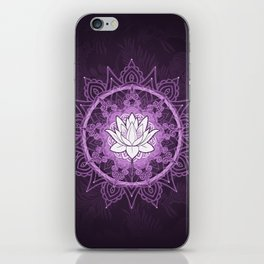 Purple Lotus Flower Mandala iPhone Skin