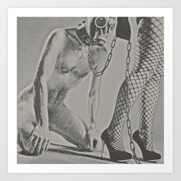 Photograph naked Bdsm Couple - man woman Art Print