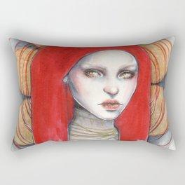 """""""Kaos"""" Mixed Media Portrait painting Rectangular Pillow"""