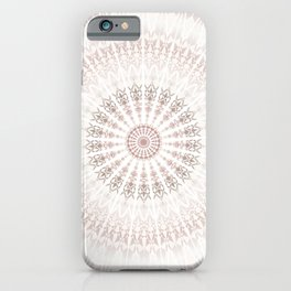 Cream Rose Mandala iPhone Case