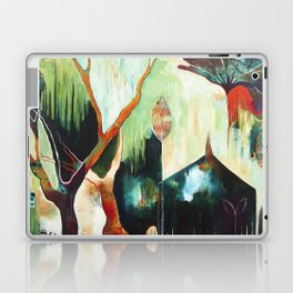 """Temple Lilies"" Original Painting by Flora Bowley Laptop & iPad Skin"