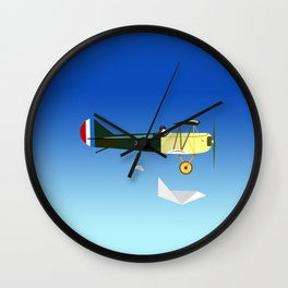 Curtiss Jenny JN 4D pioneer of flight Ameli Lost poster vintage aircraft sky and clouds air picture Wall Clock